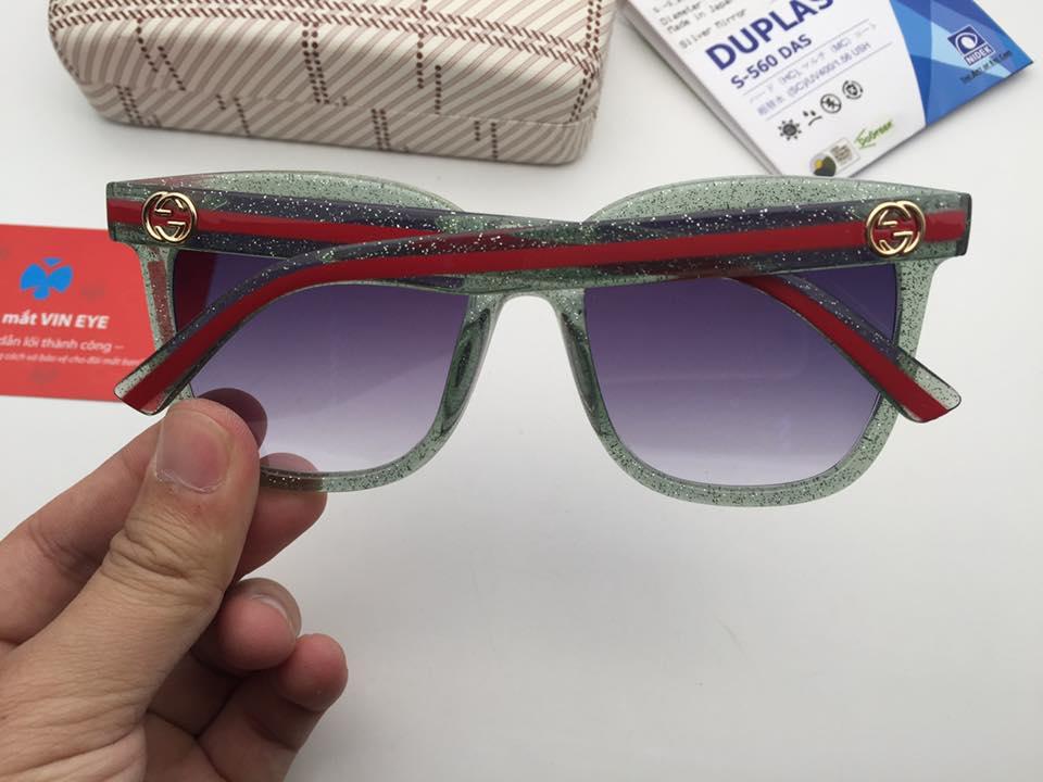 Kính râm cận Gucci GG00345 màu xanh giá rẻ -chỉ có tại kính mắt Vin Eye