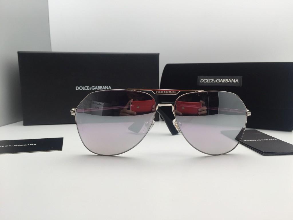 Kính cận râm Dolce & Gabbana DG2159 tráng gương bạc